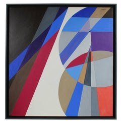 """""""Favored Geometry"""" Large Abstract Oil Painting, 2011"""