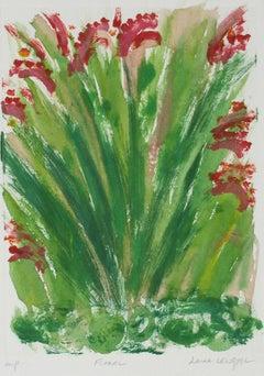 """Floral"" Botanical Monotype Print, 1986"