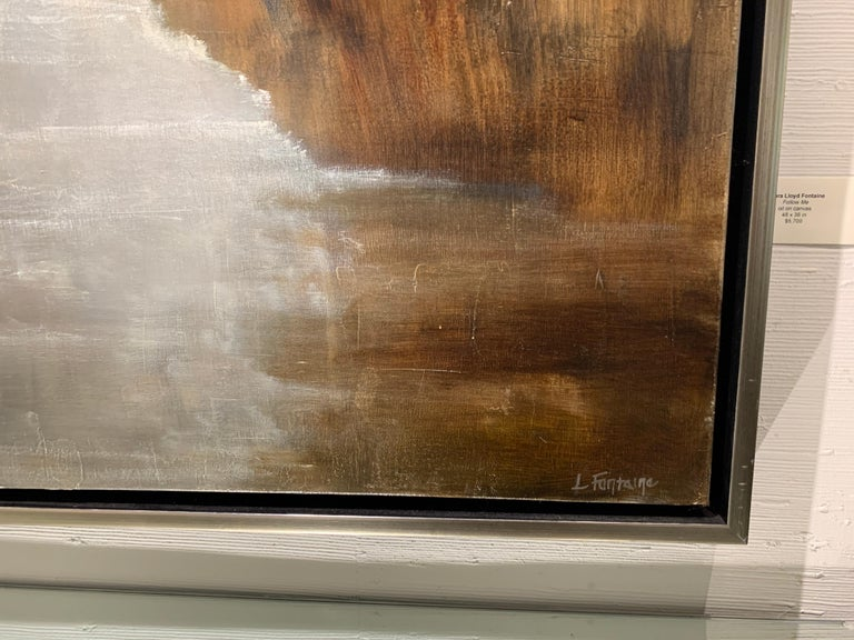 Follow Me by Laura Lloyd Fontaine, Green and Neutral Framed Landscape Painting 2