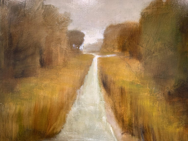 Follow Me by Laura Lloyd Fontaine, Green and Neutral Framed Landscape Painting 3