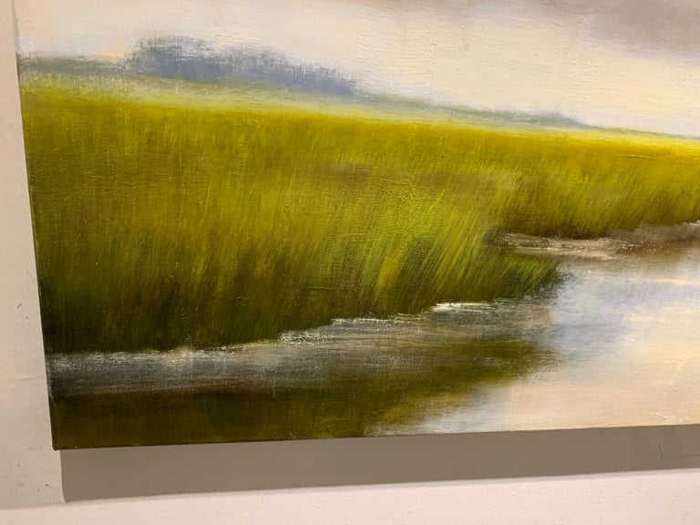 So Grateful by Laura Lloyd Fontaine, Green and Blue Landscape Painting For Sale 6