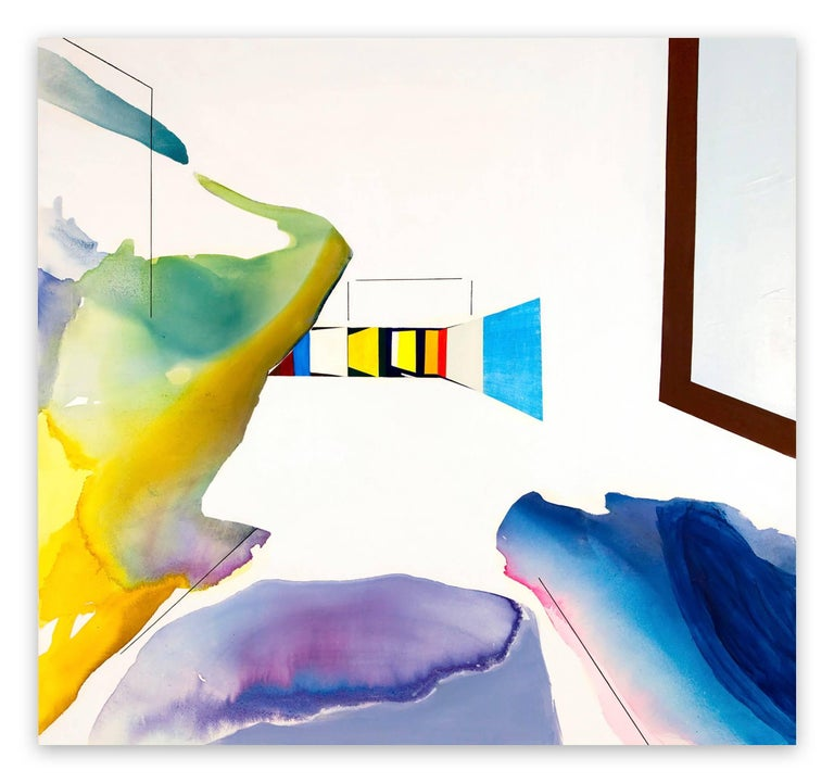 Laura Newman Abstract Painting - Room (Abstract Expressionism painting)