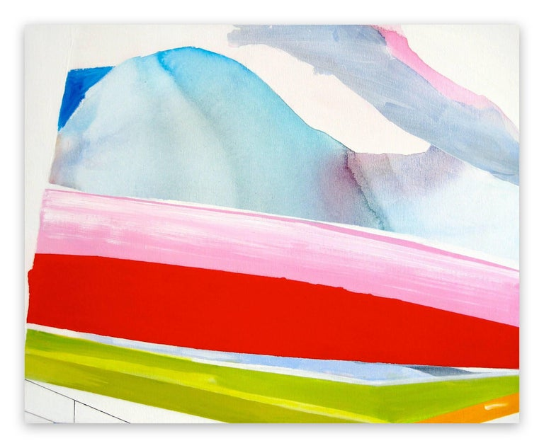 Laura Newman Abstract Painting - Viewing platform (Abstract Expressionism painting)