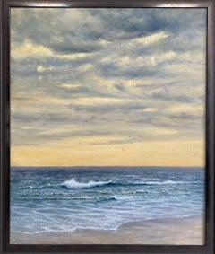 Marble Sky, original 36x30 contemporary impressionist marine landscape