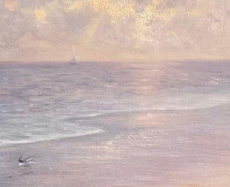 Misty Shoreline, original 20x30 contemporary marine landscape For Sale 1