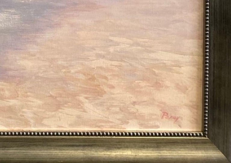 Misty Shoreline, original 20x30 contemporary marine landscape For Sale 2