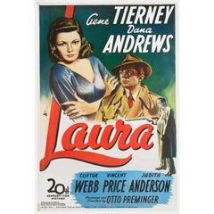 Laura R1990s Belgian B1 Film Poster