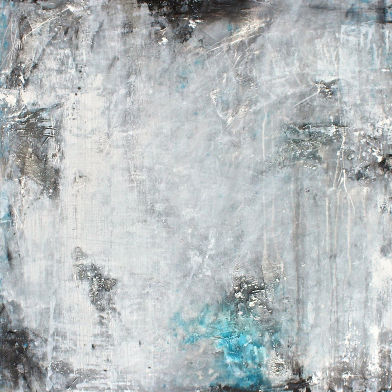 Laura Spring Abstract Painting - Have you seen the moon tonight?, Painting, Acrylic on Canvas