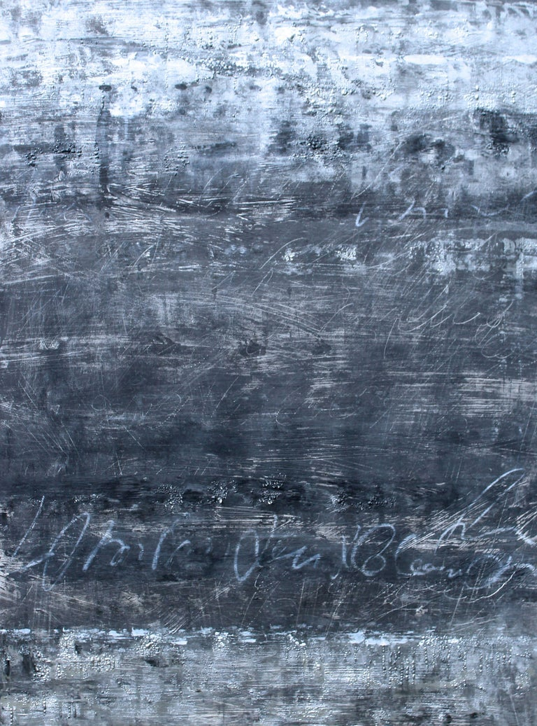 Laura Spring Abstract Painting - Silver  Lining III, Painting, Acrylic on Paper