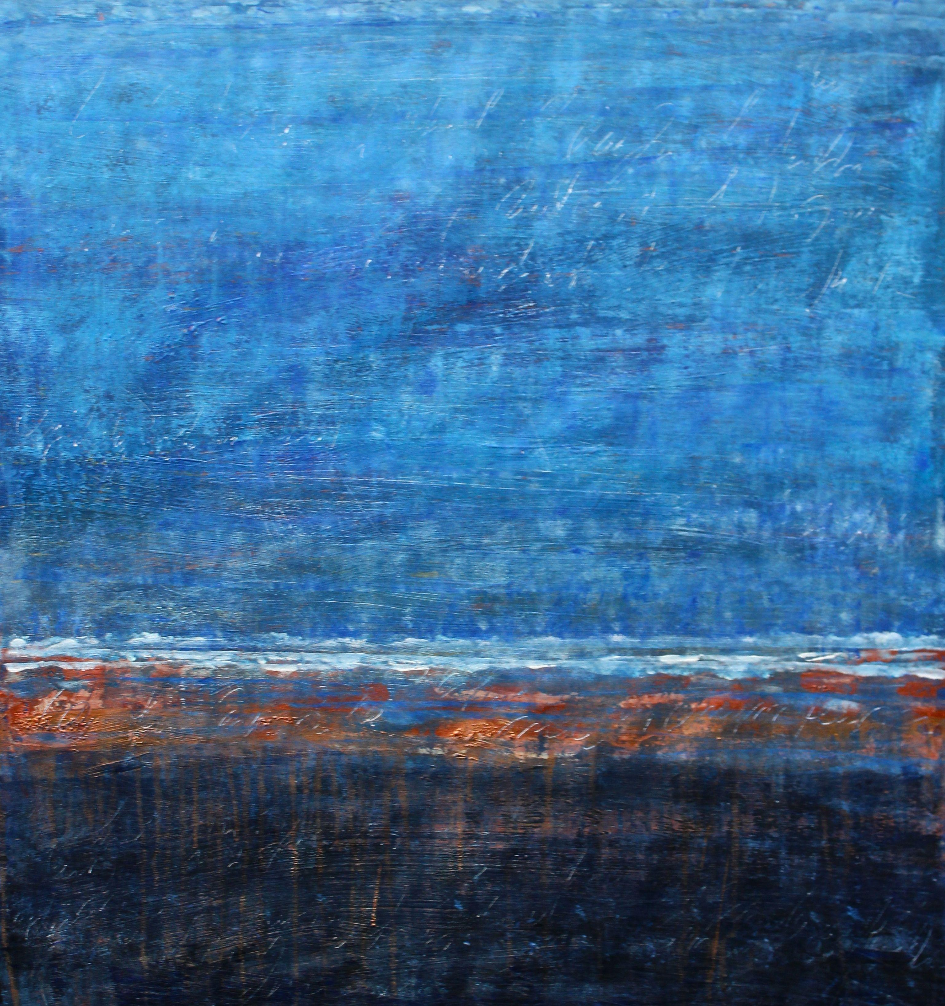 Sinking Back Into the Ocean II, Painting, Acrylic on Paper