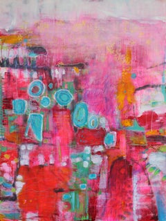 Unapologetically Pink 4, Painting, Acrylic on Canvas