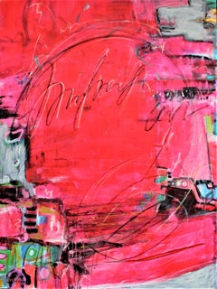 Unapologetically Pink 5, Painting, Acrylic on Canvas