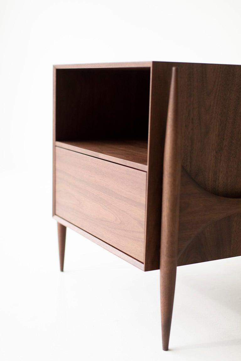 Contemporary Laura Trenchard Modern Nightstands for Craft Associates Furniture For Sale
