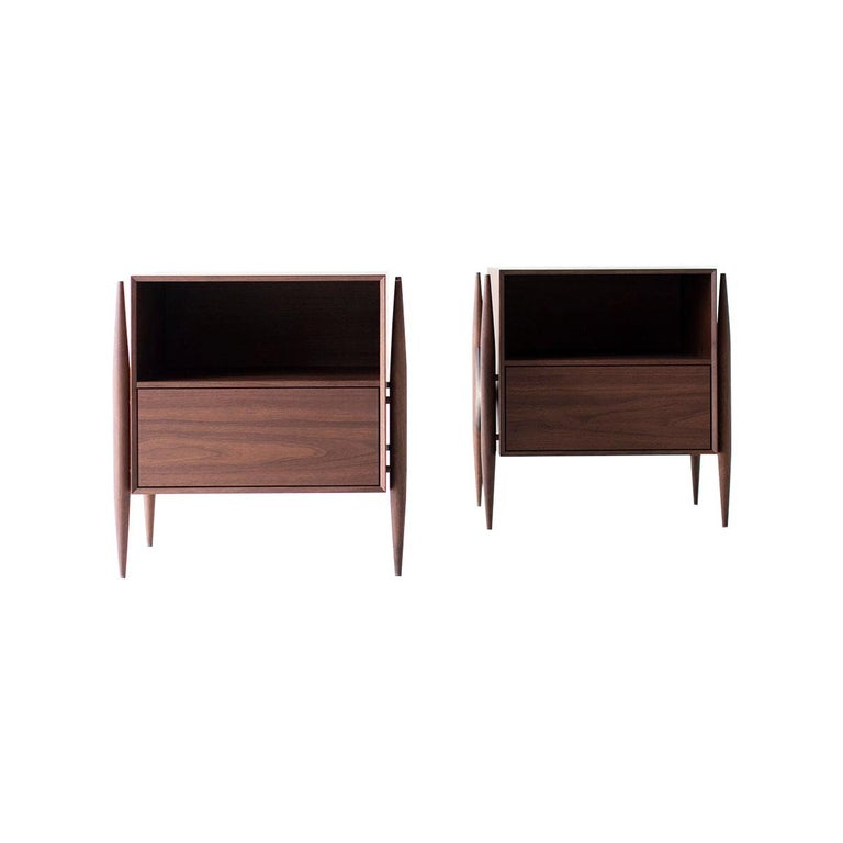 Laura Trenchard Modern Nightstands for Craft Associates Furniture For Sale