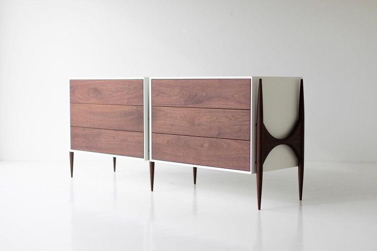 Designer: Laura Trenchard  Manufacturer: Craft Associates Modern Furniture Period/Model: Mid-Century Modern Specs: Maple, Walnut  Dimensions  H: 30.25 (76.84cm) L: 73.5 (198.12cm) D: 20 (45.72cm)  condition  This Laura Trenchard modern