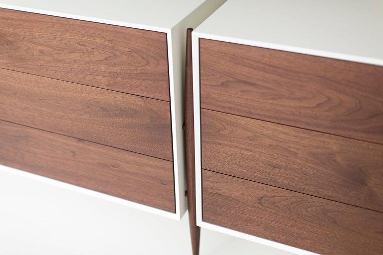 American Laura Trenchard Modern Walnut Dresser for Craft Associates Furniture For Sale