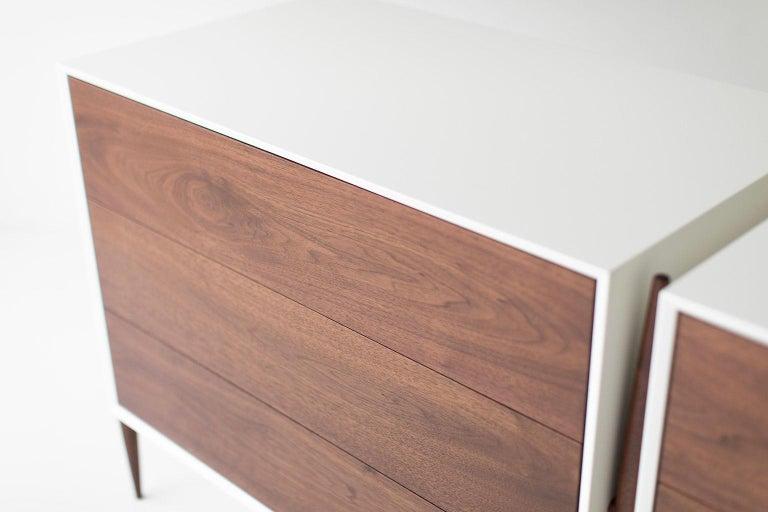 Contemporary Laura Trenchard Modern Walnut Dresser for Craft Associates Furniture For Sale