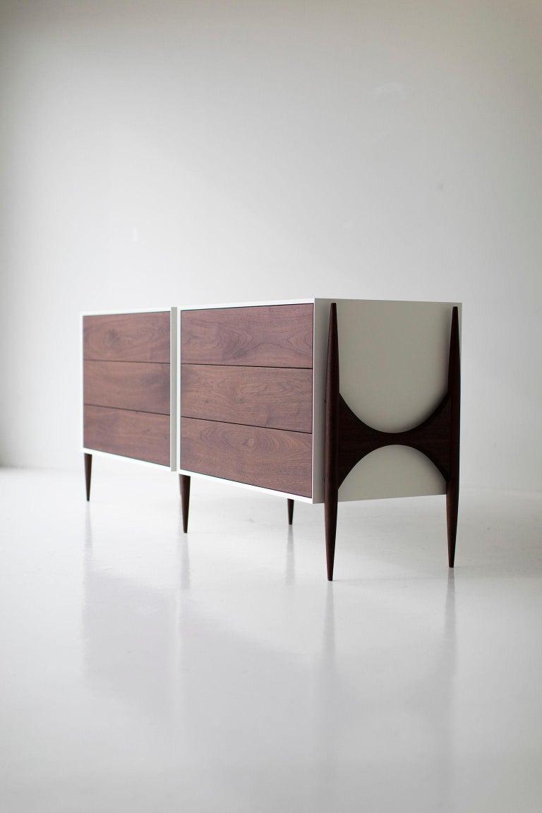 Maple Laura Trenchard Modern Walnut Dresser for Craft Associates Furniture For Sale