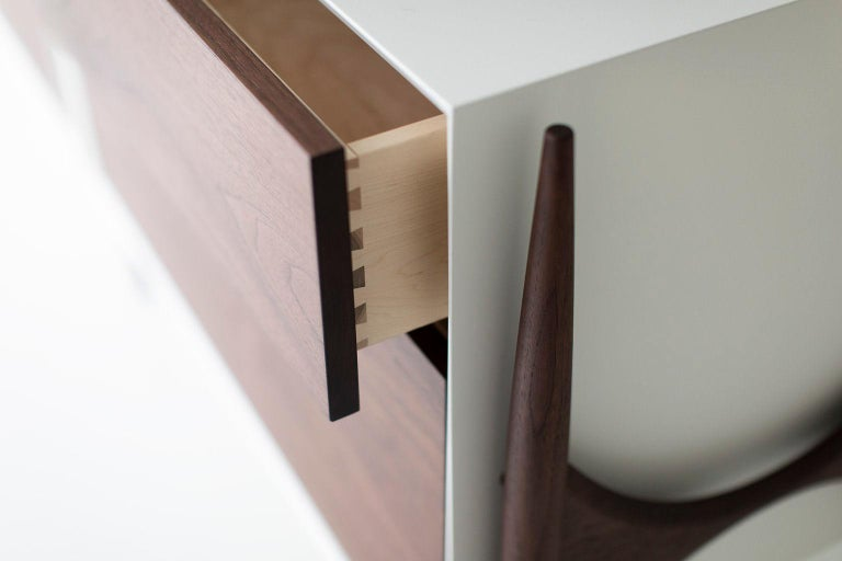 Laura Trenchard Modern Walnut Dresser for Craft Associates Furniture For Sale 1