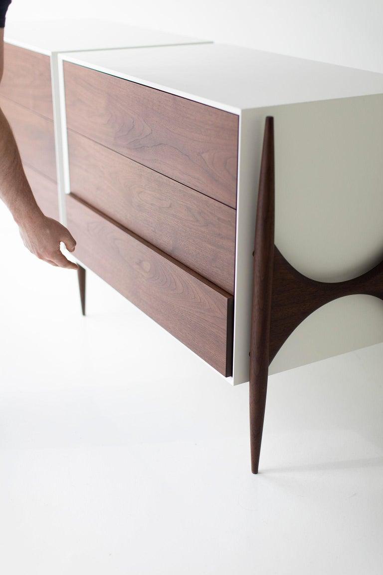 Laura Trenchard Modern Walnut Dresser for Craft Associates Furniture For Sale 2