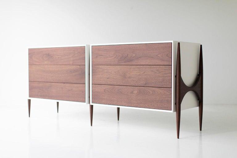 Laura Trenchard Modern Walnut Dresser for Craft Associates Furniture For Sale 3