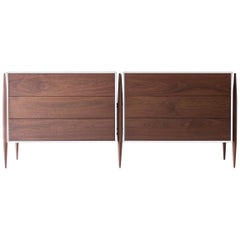Laura Trenchard Modern Walnut Dresser for Craft Associates Furniture