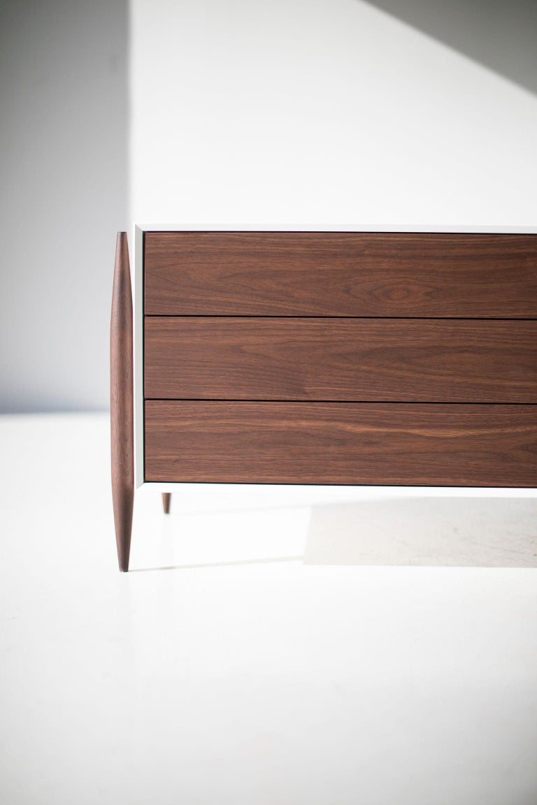 Laura Trenchard Modern Walnut Nightstands for Craft Associates Furniture For Sale 3