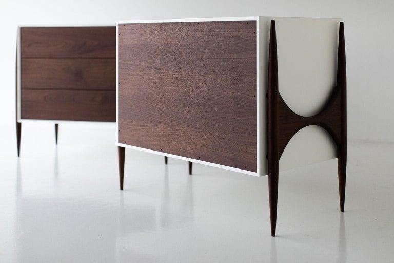 American Laura Trenchard Small Modern Walnut Dresser for Craft Associates Furniture For Sale