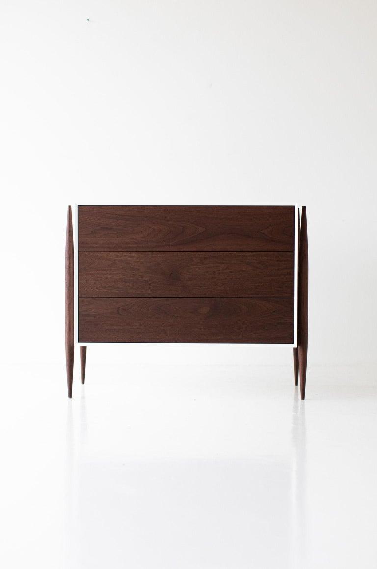 Maple Laura Trenchard Small Modern Walnut Dresser for Craft Associates Furniture For Sale