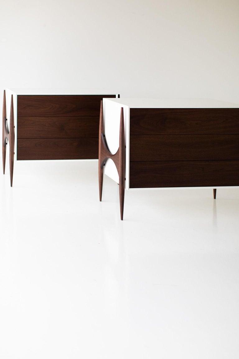 Laura Trenchard Small Modern Walnut Dresser for Craft Associates Furniture For Sale 1