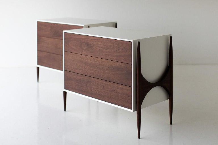 Laura Trenchard Small Modern Walnut Dresser for Craft Associates Furniture For Sale 2