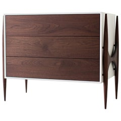 Laura Trenchard Small Modern Walnut Dresser for Craft Associates Furniture