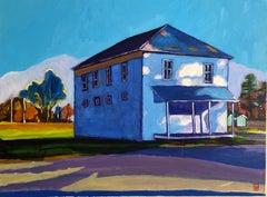 Moody Blue House, Original Painting