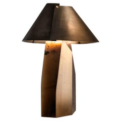 """Laurameroni """"Ada"""" Table Lamp in Alabaster and Brass by Cesare Arosio"""