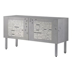 """Laurameroni """"Formiche Nere"""" Limited Edition inlaid Sideboard by Emilio Isgrò"""