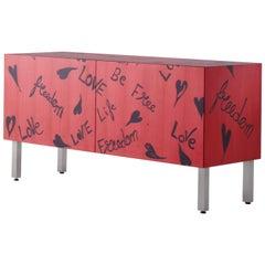 "Laurameroni ""Freedom"" Limited Edition inlaid Sideboard by Romeo Gigli"