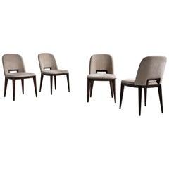 """Laurameroni """"Margaret"""" Modern Velvet Chair by Cesare Arosio"""