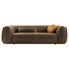 """Laurameroni """"Meir"""" Modern Glamour Sofa in Leather by Matteo del Pero"""