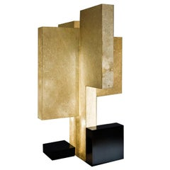 """Laurameroni """"Novecentotrenta"""" Modern Architectural Table Lamp in Parchment"""