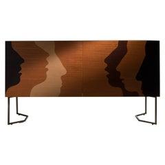 "Laurameroni ""Silenzio"" Inlaid Limited Edition Sideboard by Robert Hromec"