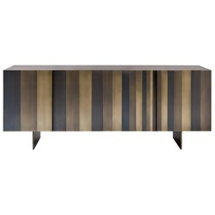 "Laurameroni ""Stars"" Modern Low Sideboard in Burnished Brass by Bartoli Design"