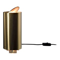 "Laurameroni ""Tubo Tavolo MF 35"" table lamp in satin brass"