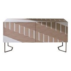 """Laurameroni """"Twill"""" Limited Edition inlaid Sideboard by Bartoli Design"""
