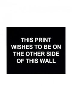 This print wished to be on the other side of this wall