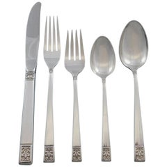 Laureate by Towle Sterling Silver Flatware Set for 12 Service 71 Pieces