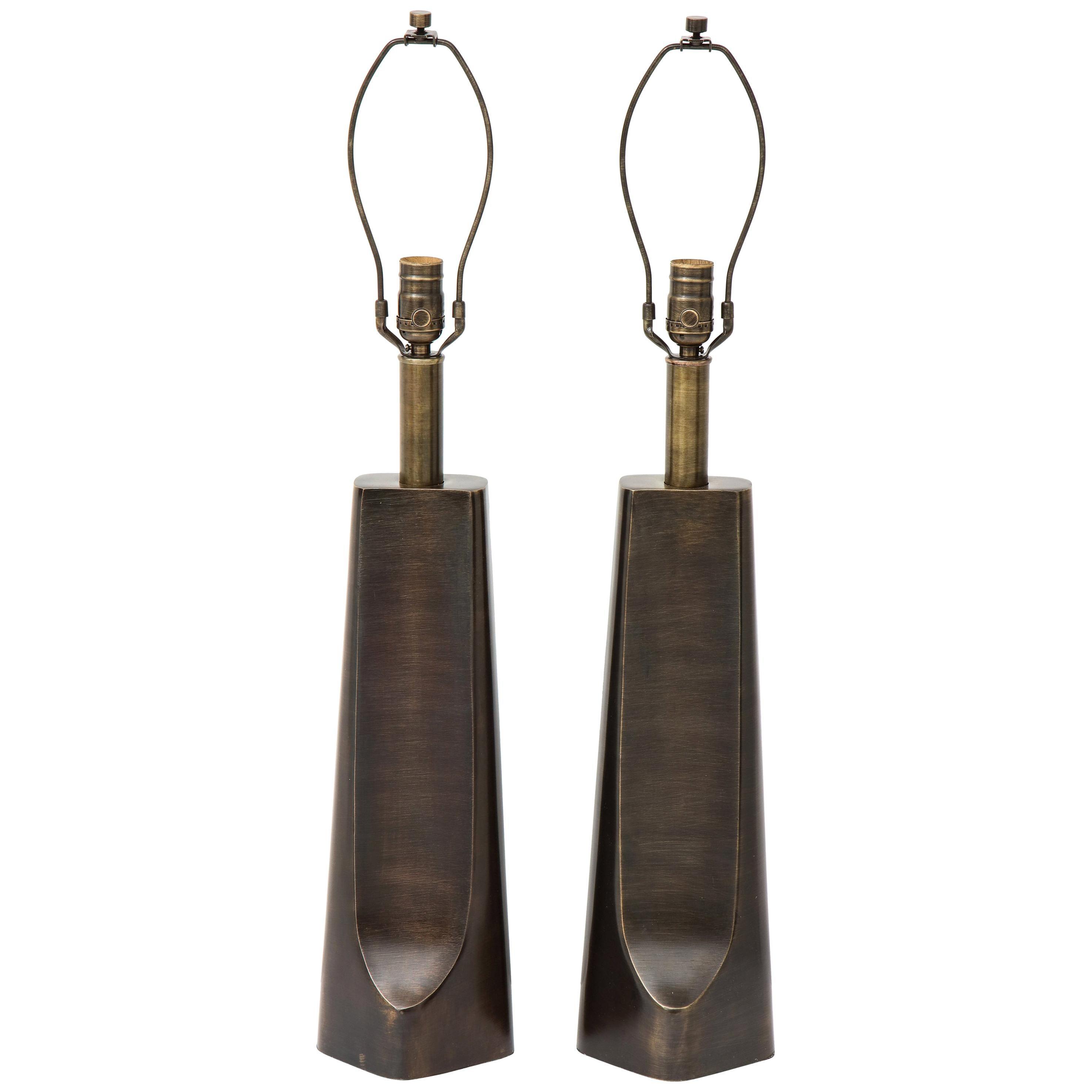 Laurel Aged Bronze Modern Lamps