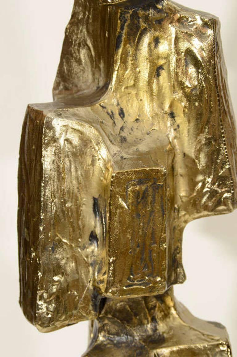 American Laurel Brutal Style Bronze Lamps For Sale