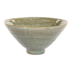 Laurel Ceramic Bowl with Light Green Glaze and Finish by CuratedKravet