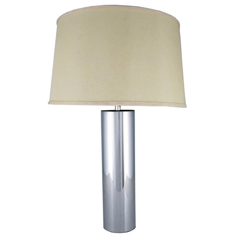 Laurel Cylindrical Chrome Table Lamp