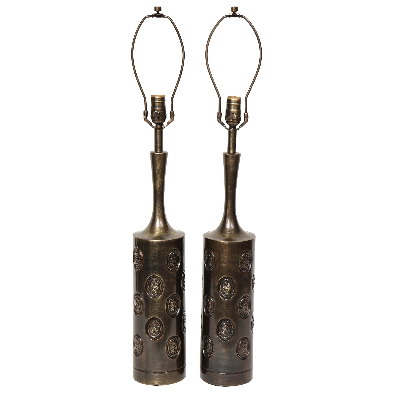 Laurel Dark Bronze Modernist Lamps